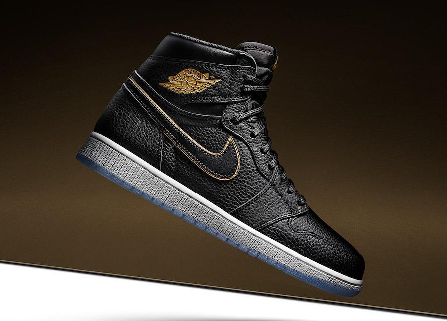 Zapatilla Nike Air Jordan Retro 1 Black Gold
