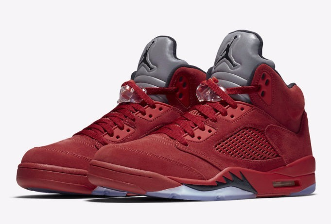 2d4ce555877dd Zapatillas Nike Jordan Retro 5 Red Suede Og Vuelta Town -   6.000