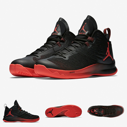 zapatillas nike jordan super fly 5 | black infrared 2016