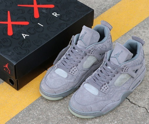 zapatillas nike  kaws x air jordan 4 cool grey 40 - 46