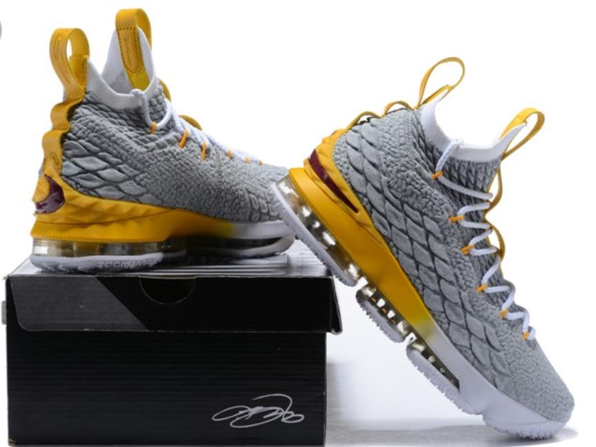 0fcc4d3429e ... coupon code zapatillas nike lebron james xv gris con amarillo. cargando  zoom. d045d bffd0