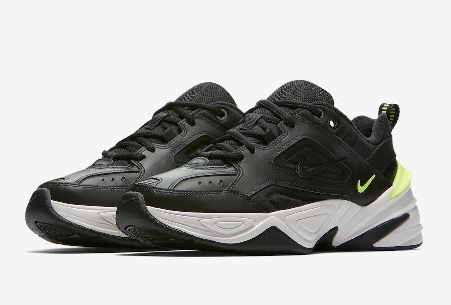 derivación chasquido anfitriona  Zapatillas Nike M2k Tekno Black Volt Negro Nuevo 2018 - S/ 419,90 ...