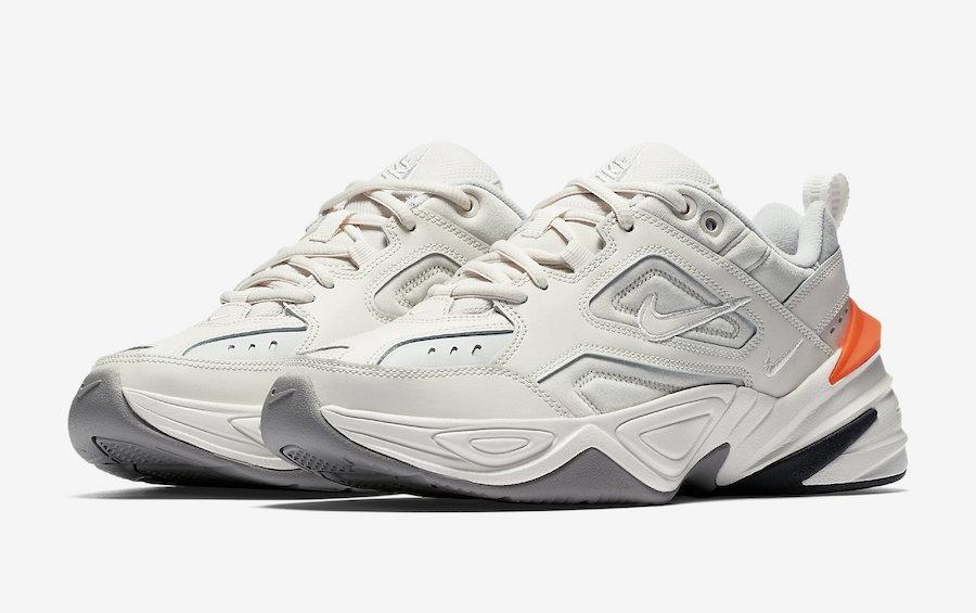 reloj 66426 7a759 Zapatillas Nike M2k Tekno Phantom Blanco Naranja 2018