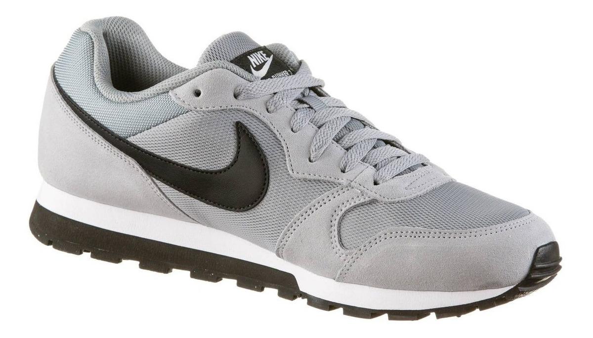 barato Zapatillas Nike Md Runner 2 Para Hombre Gris Y Negro
