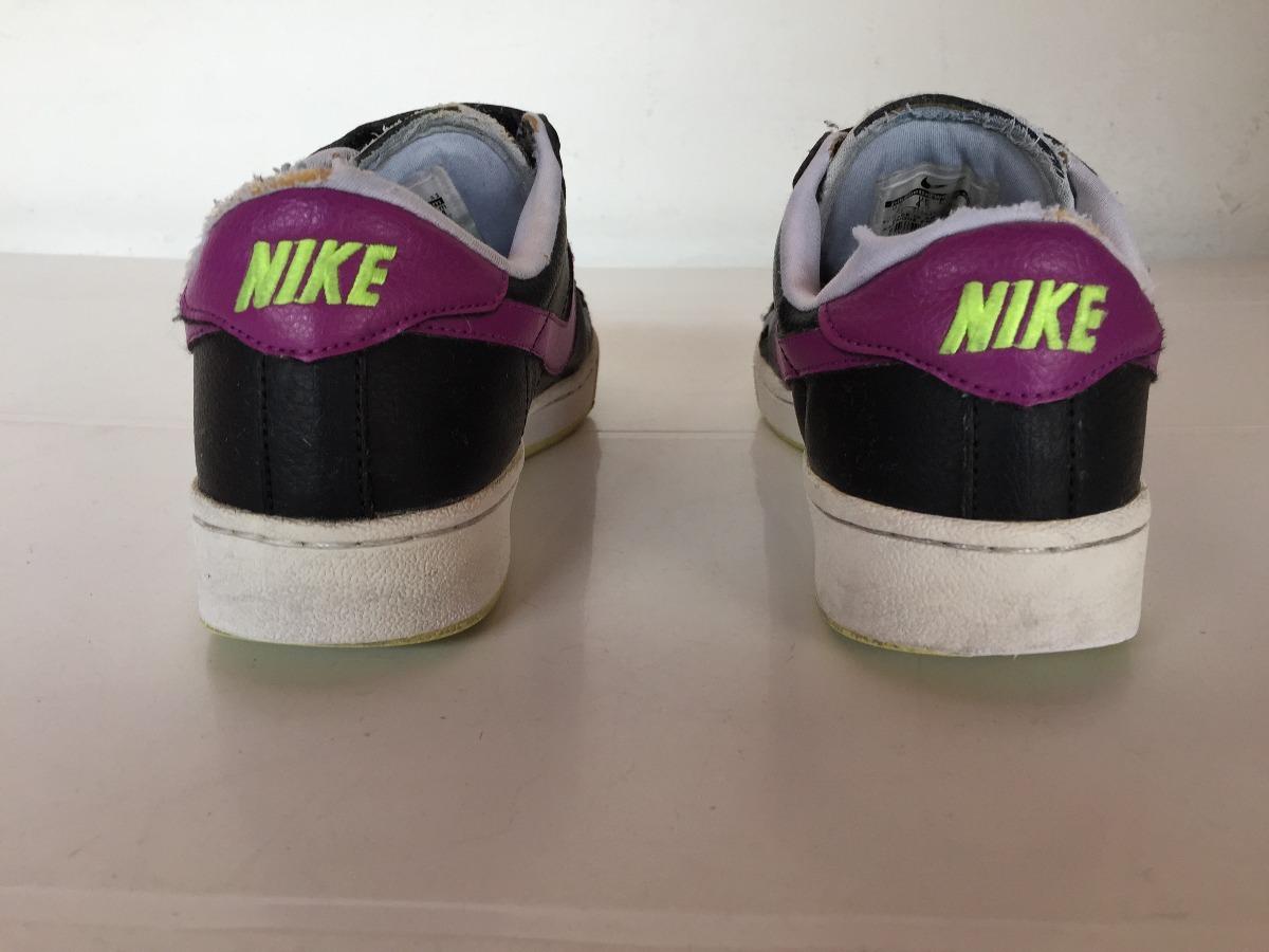 zapatillas nike negras y violeta con abrojo t.37. Cargando zoom.