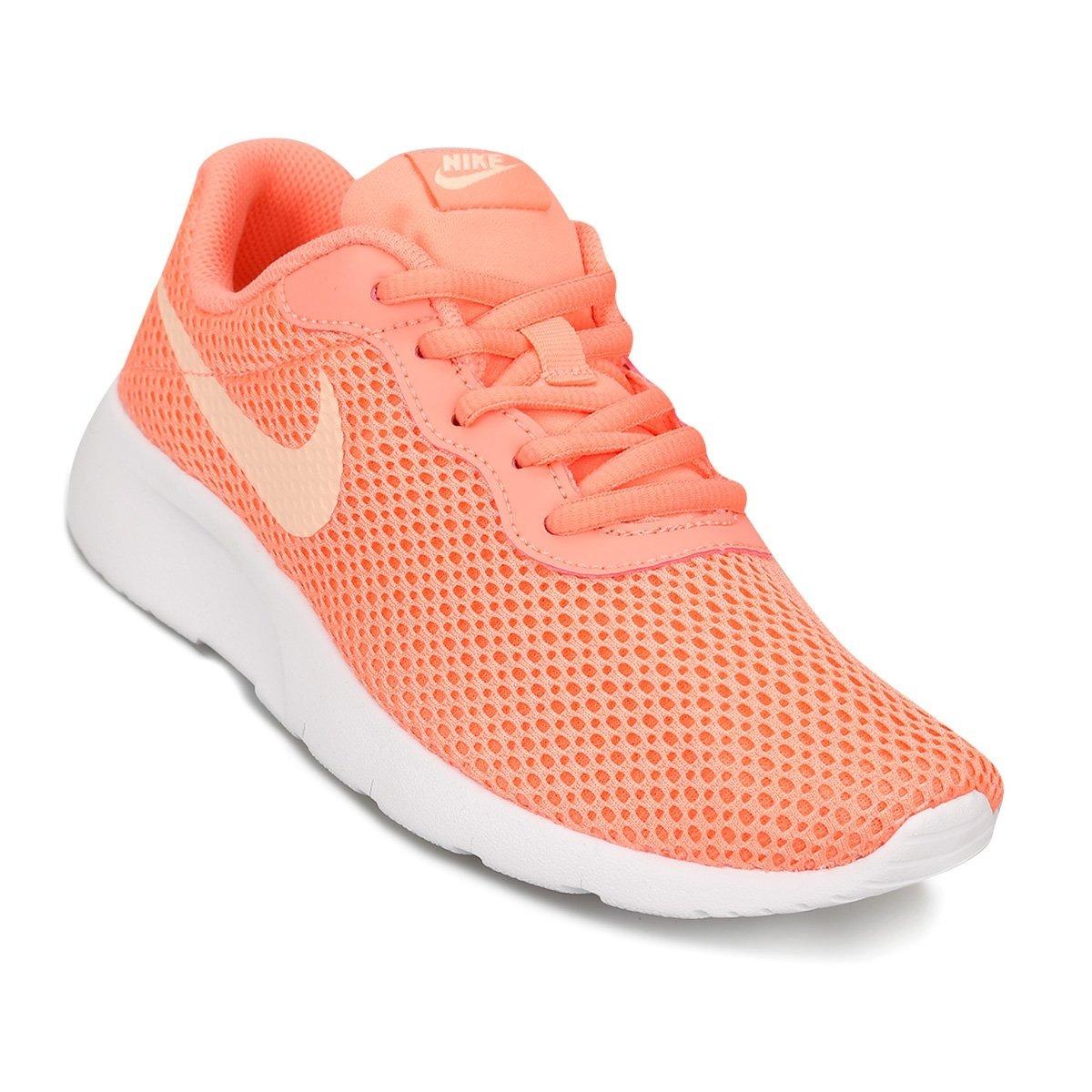 5eed26773 zapatillas nike niñas - tanjun gs - super comodas - naranja. Cargando zoom.