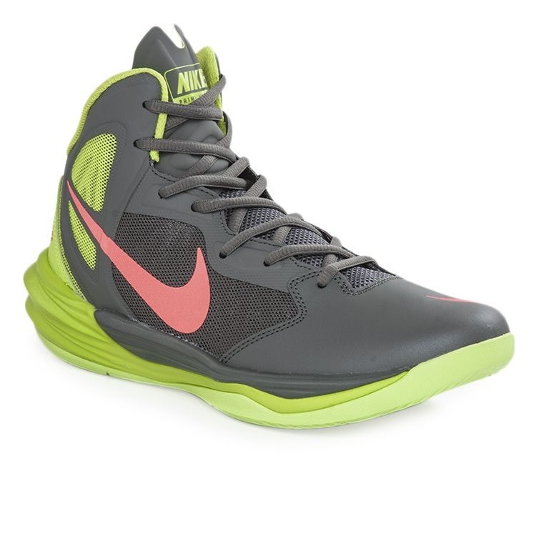 b6adeafb Zapatillas Nike Original Basquet Prime Hype Df 2 Gris-verde ...