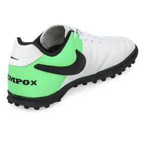 cf256db35 Botines Nike Tiempo Blanco Con Verde - Deportes y Fitness en Mercado Libre  Argentina