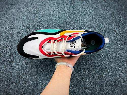 zapatillas nike react air max  max270 phantom / universit