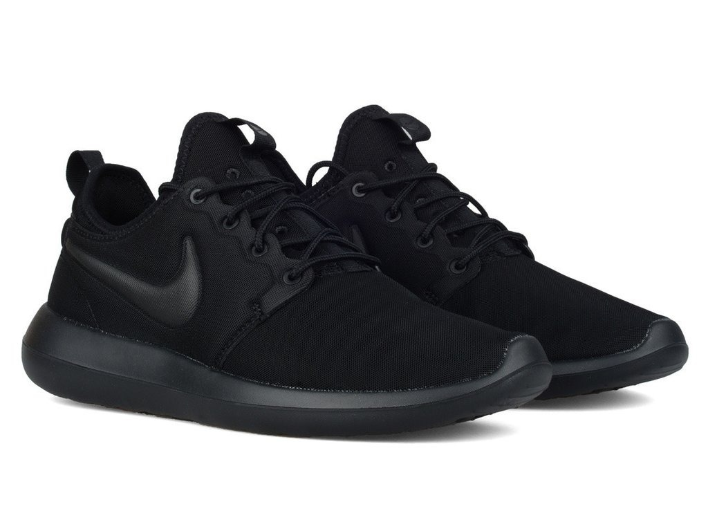 detailed look f9fcf 66fe0 zapatillas nike roshe run two dos todo negro original 2018 ...