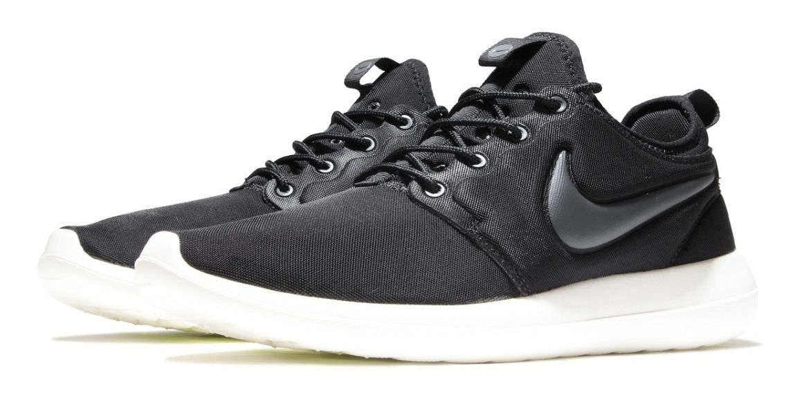 reputable site c5a0a ec091 Zapatillas Nike Roshe Run Two Negro Blanco Original 2018