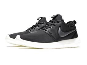 71cd08a84b Zapatillas Nike Roshe Run Two Negro Blanco Original 2018