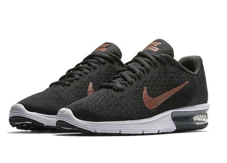 Zapatillas Nike Running Air Max Sequent Negro Doradas Oferta ... 2ac81dca23f