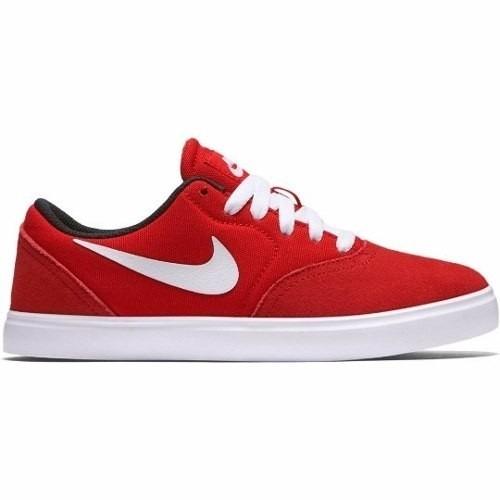 afae2a19d18eb Zapatillas Nike Sb Check Niños Roja Combianadas Cuero Lona -   2.200 ...