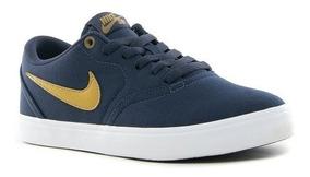 Zapatillas De Vestir Nike Sb Check Blue Dark (originales!)