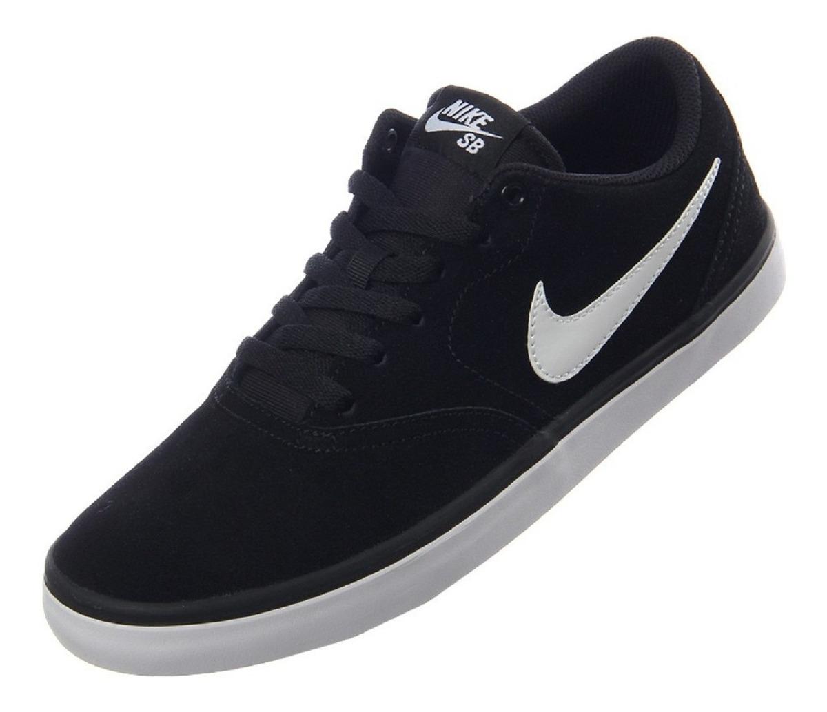 Zapatillas Nike Sb Check Solarsoft Hombre Negra Nike Sb