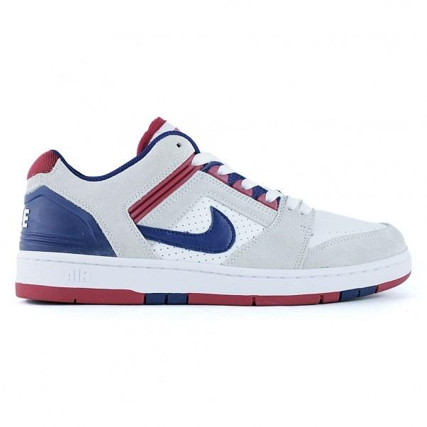 zapatillas nike blancas con rojo y azul