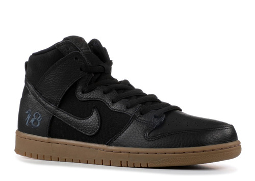 zapatillas nike sb mod dunk high pro qs zoom negro marron!
