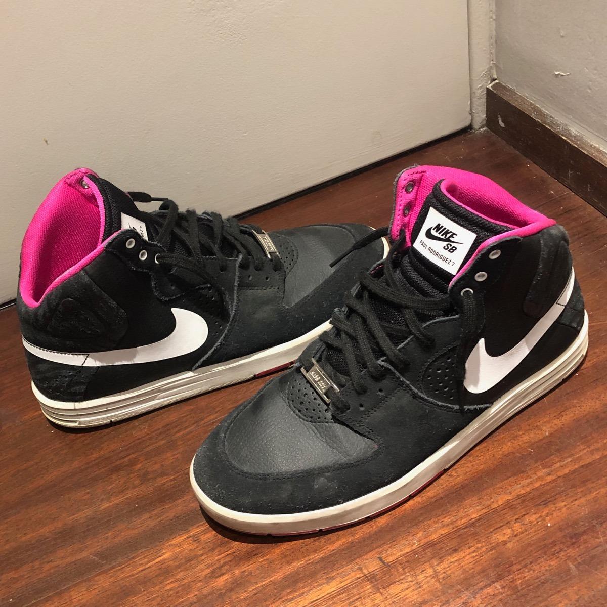 d2da2e9d16 zapatillas nike sb paul rodriguez 7 botitas negras con rosa. Cargando zoom.