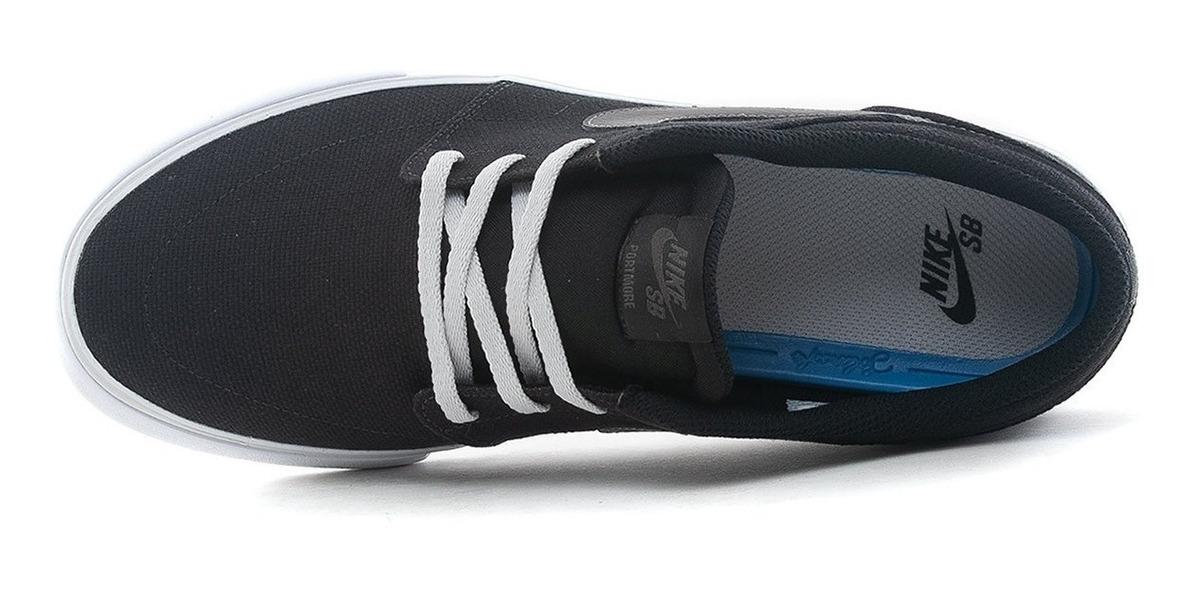 Zapatillas Nike Sb Portmore Solar 2 Lona Negras Cnvs | Pura