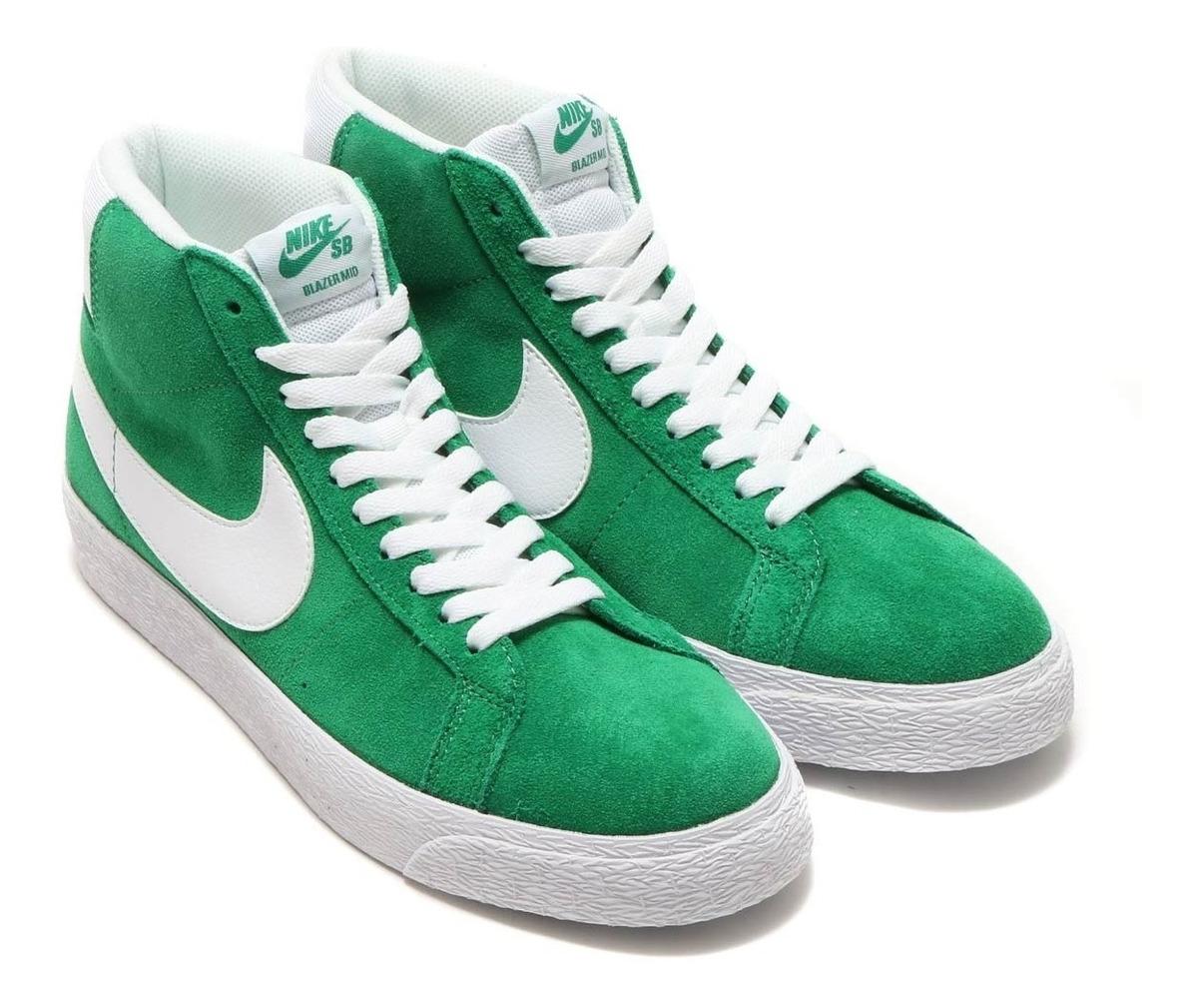 best service 8d88d 7dc66 Zapatillas Nike Sb Zoom Blazer Pine Green Hombre Mujer 311
