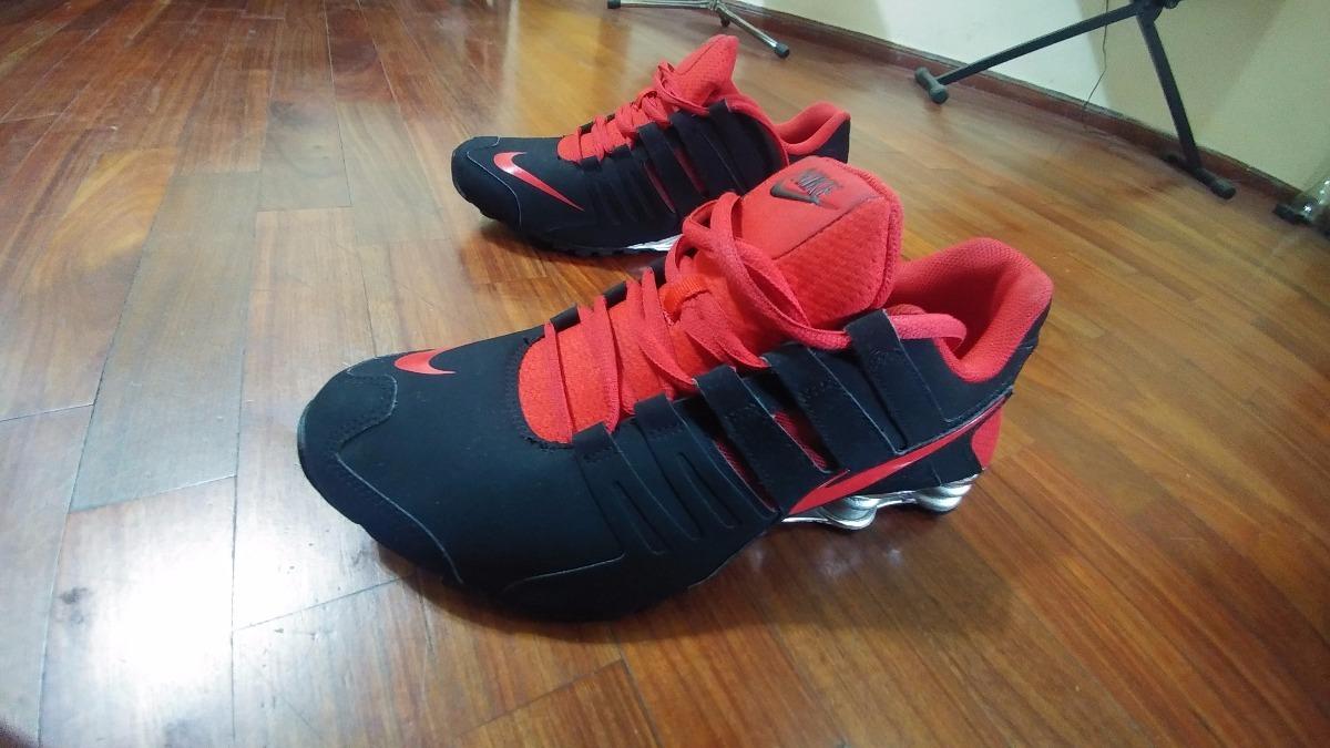 ... Zapatillas Nike Shox Current - Negro Con Rojo (original) - S ... 187b4a42720