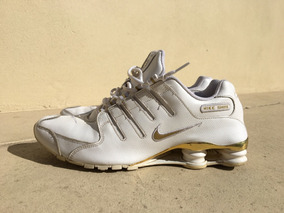 Zapatillas Nike Shox Nz Blanco & Dorado Talle 1347