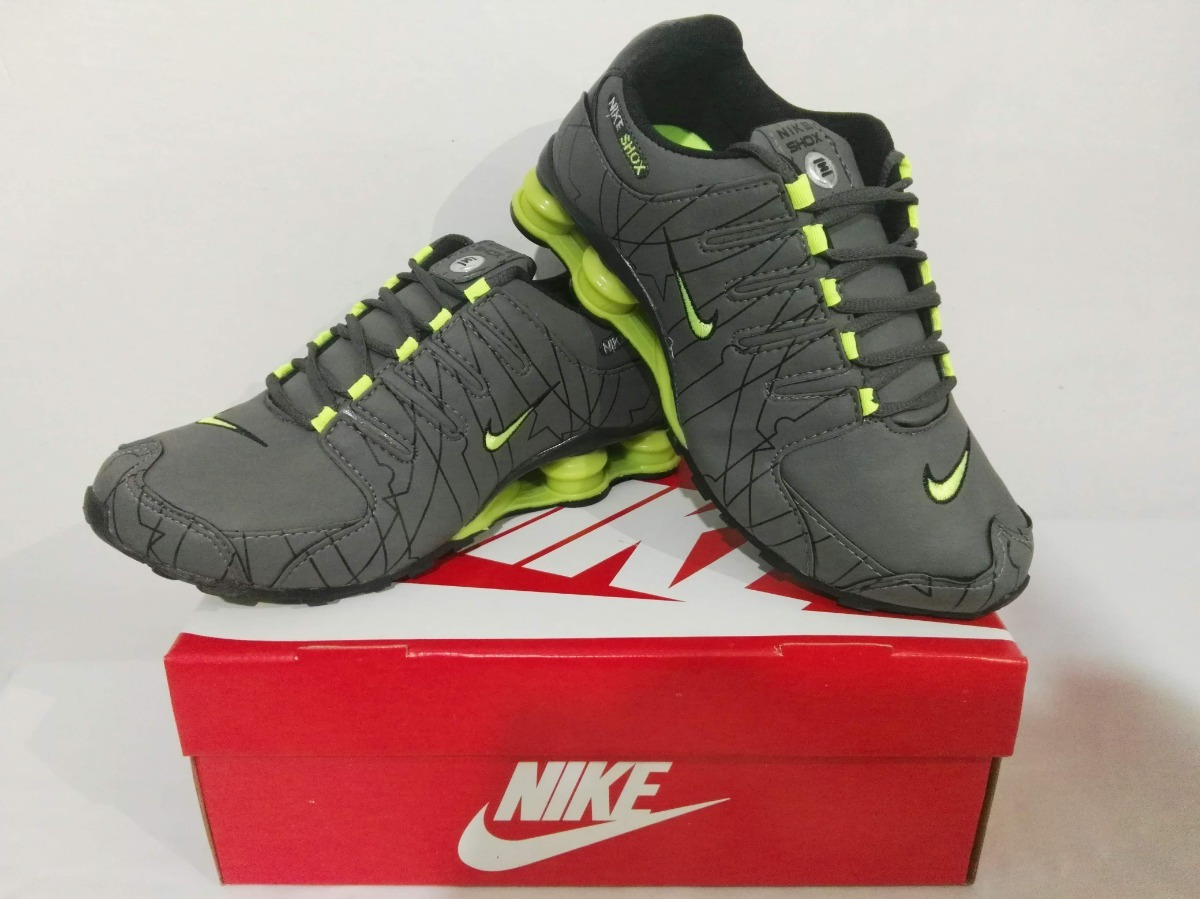 purchase cheap c0d26 5cac6 zapatillas nike shox p hombre nz gris - verde importada. Cargando zoom.