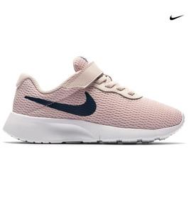 Zapatillas Nike Tanjun GS gris dorado rosa infantil