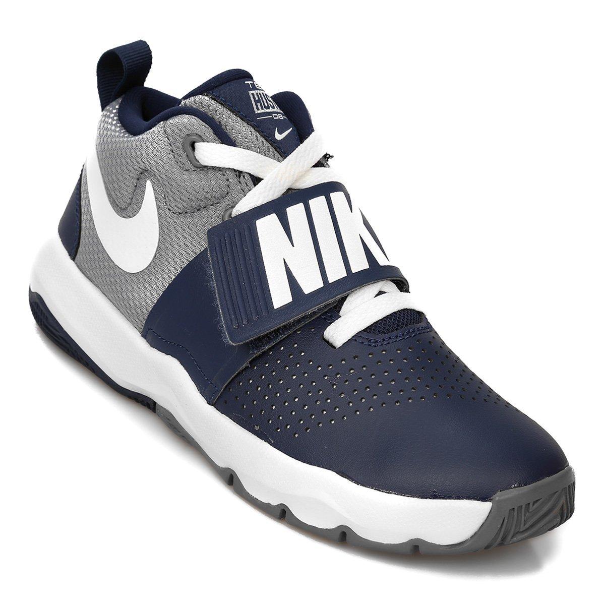Zapatillas Nike Team Hustle D8 Infantil Azul Y Gris
