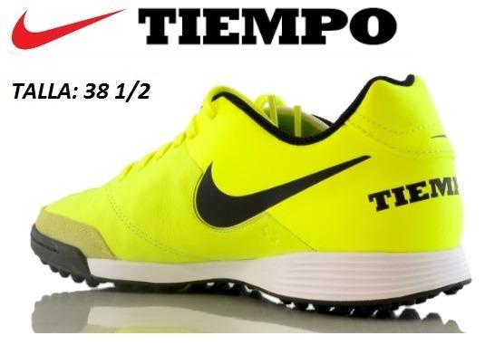 Zapatillas Nike Tiempo Talla 38 1 2 Para Grass Artificial - S  390 ... 634254b957b26