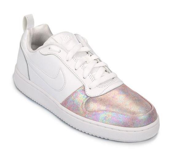 5d3b9e3b02a Zapatillas Nike Urbanas Blancas Mujer Brillos Nuevas 2018 -   3.390 ...