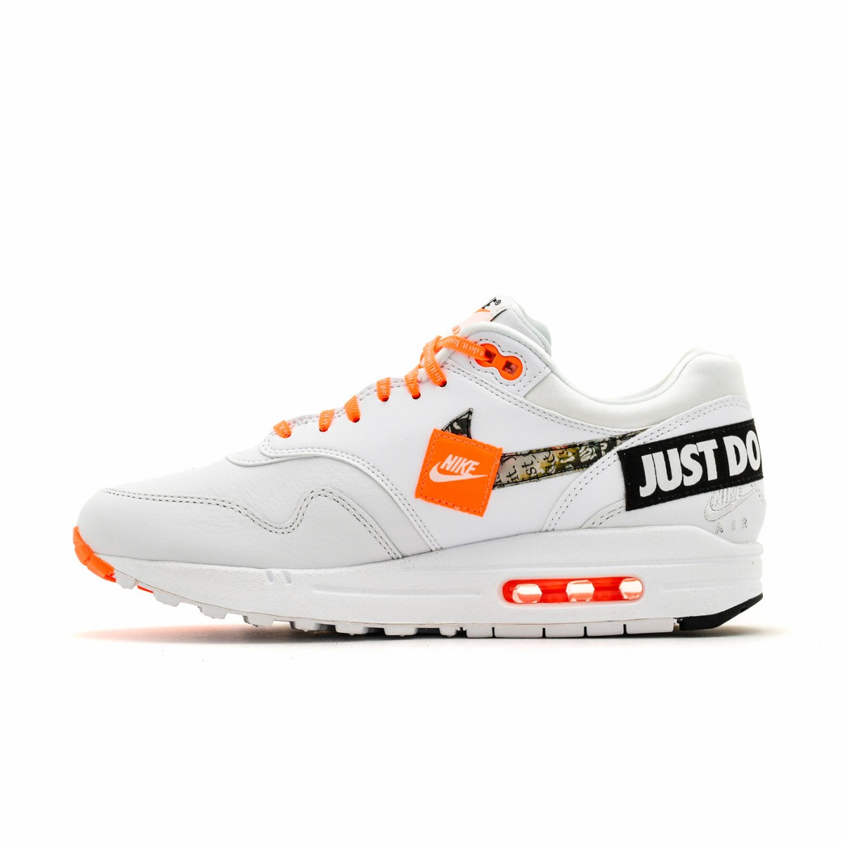 cheap mens nike air max 1 white orange 640c1 5ee6d