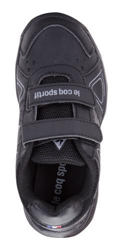 zapatillas nils strap negro kids le coq sportif