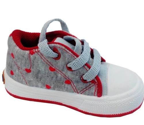 zapatillas  niñas  bebe lona marca small modelo amaia (0121)