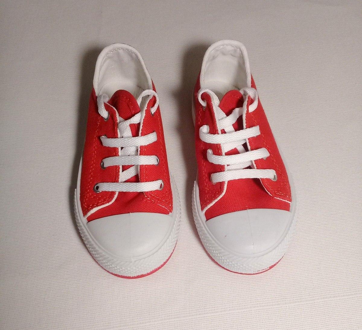 zapatillas converse rojas niño