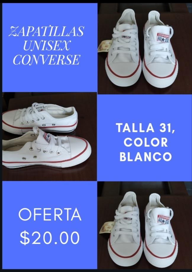 zapatillas niño blancas converse