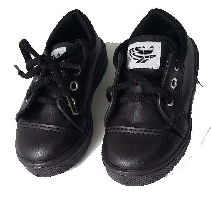 13c03194e13fb Zapatillas Niños Blancas Negras Toy Cordones Colegial -   499