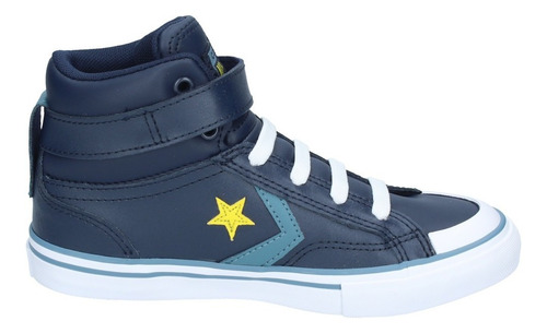 zapatillas niños converse pro blaze strap caña alta azul