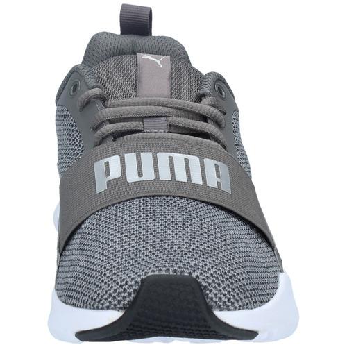 zapatillas niños puma training wired knit gris-2914