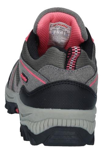 zapatillas outdoor lotto niños caims gris-rosa-1420