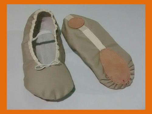 zapatillas para ballet media punta + obsequio (tallas 29-34)