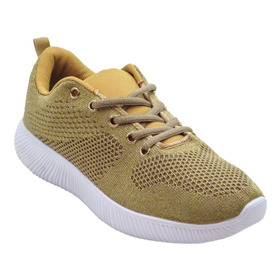 Zapatillas Para Mujer Deportivas Sayid Color Dorado