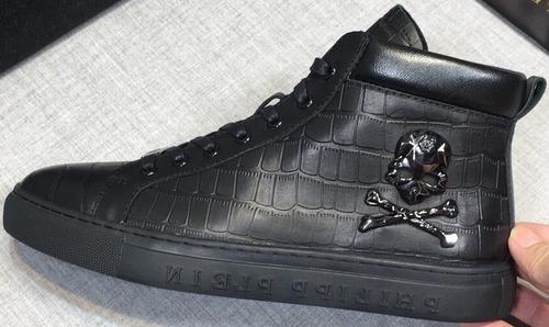 zapatillas philipp plein con diseño de calavera color negro
