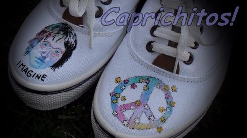 zapatillas pintadas a mano