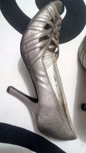 zapatillas plata talla 3 kebo