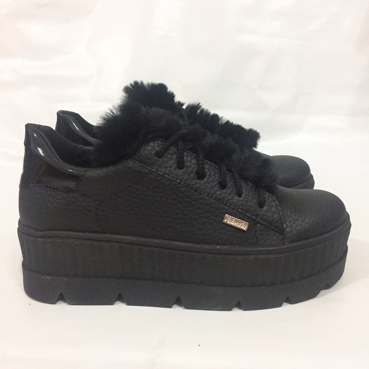 563f82eed4d zapatillas plataforma alta mujer peluche - moda 2018. Cargando zoom.