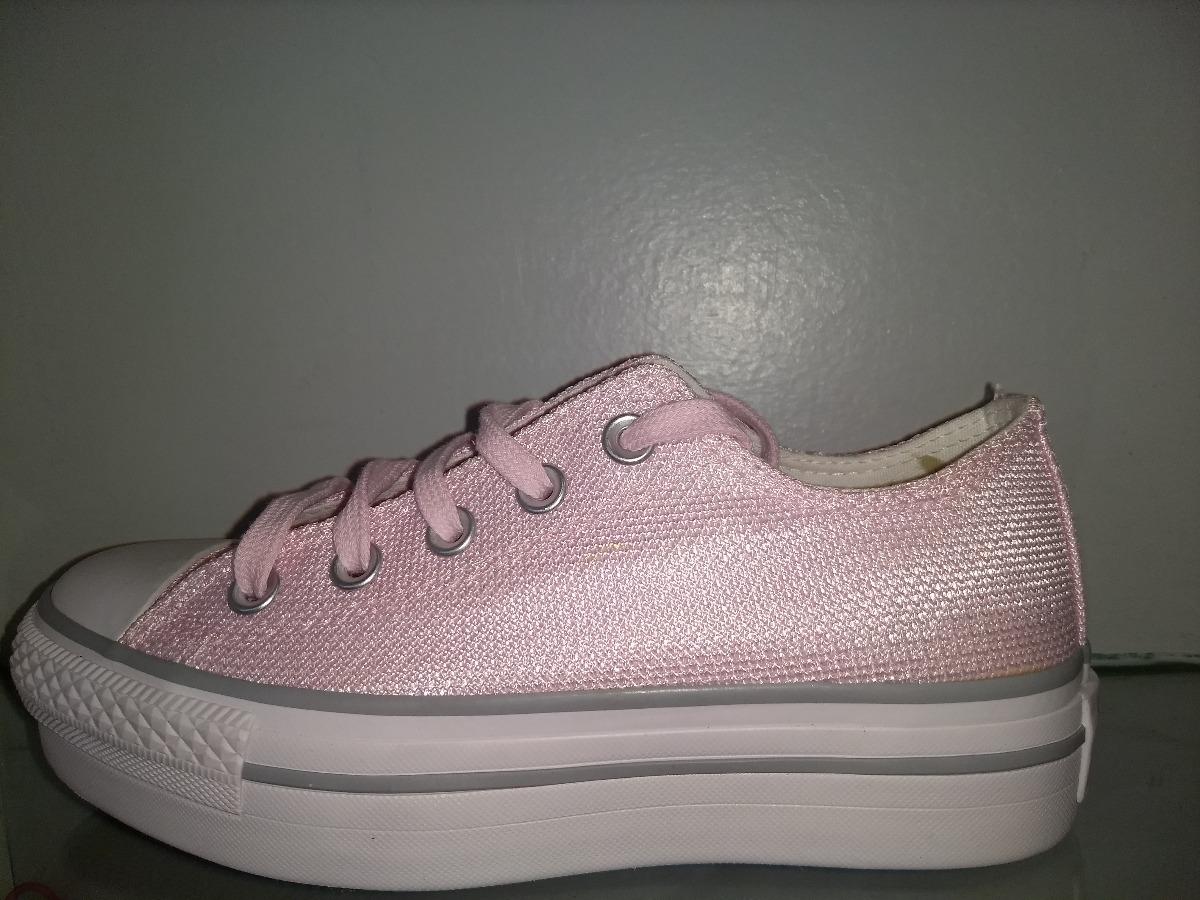 converse plataforma rosa