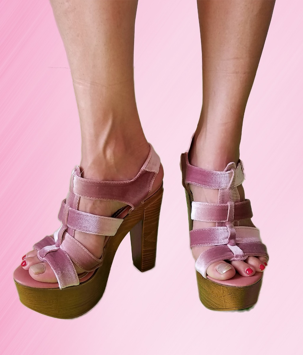lista nueva Código promocional buscar genuino Zapatillas Plataforma Dama Color Rosa Palo