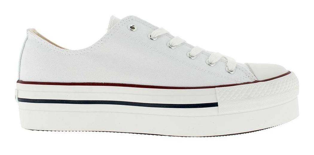zapatillas tipo converse mujer blancas